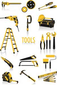 construction tool vector graphic set cdev
