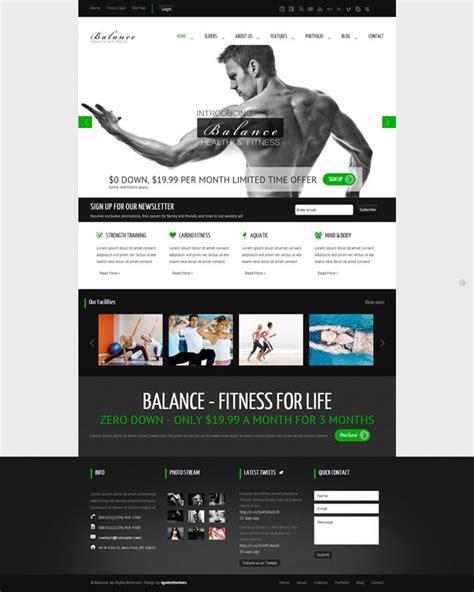 html themes wordpress balance gym fitness wordpress html 5 theme themes4wp