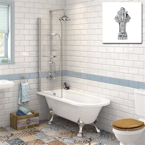 roll top bath shower screen 1510mm small traditional roll top bath 6mm screen with chrome soak