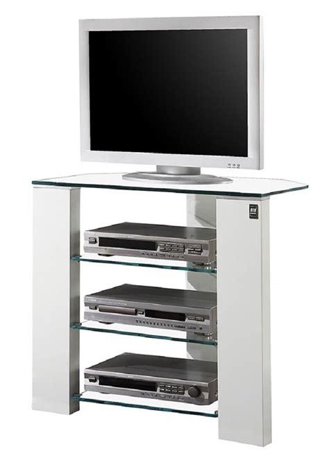meuble tv blanc laque angle artzein