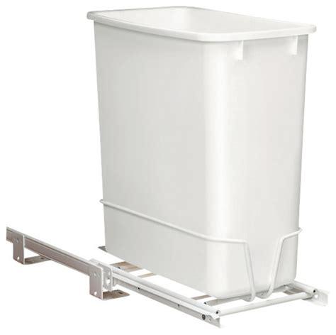 corner cabinet trash can rev a shelf trash rev a shelf 20 quart plastic pull out