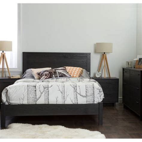 south shore fynn 4 piece full bedroom set gray oak