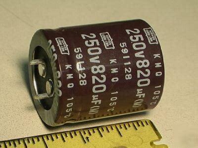 capacitor ham radio 820uf 250v capacitor for ham radio lot of 8