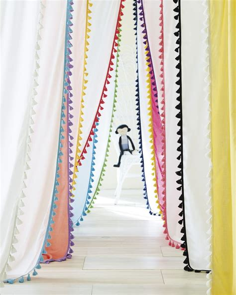 toddler bedroom curtains best 25 pom pom curtains ideas on pinterest curtains to cover closet curtains