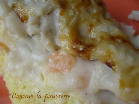comment cuisiner les crevettes congel馥s gratin de poisson sur polenta la cuisine de quat sous