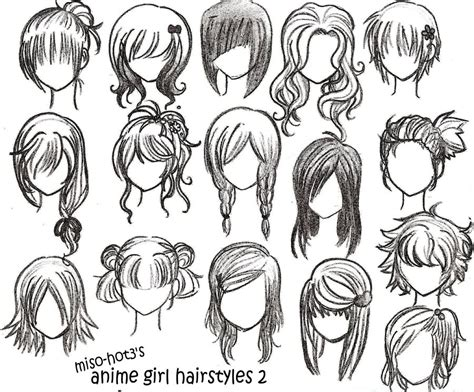 cool hairstyles drawing drawings anime hairstyles