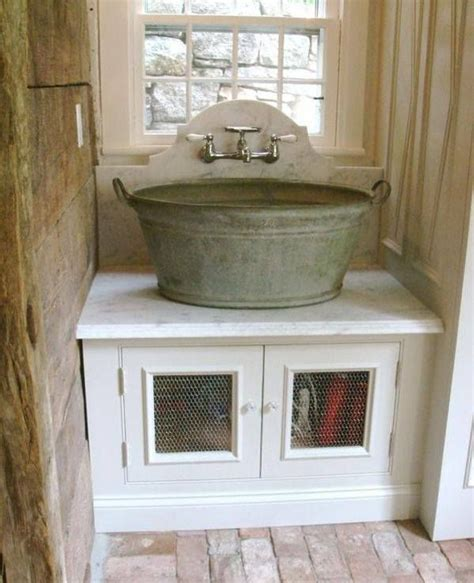 sink with galvanized tub for the home pinterest