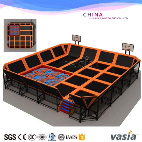 Trampoline Bed For Kids Tuv Kids Sky Zone Rectangule Jumping Trampoline Park With