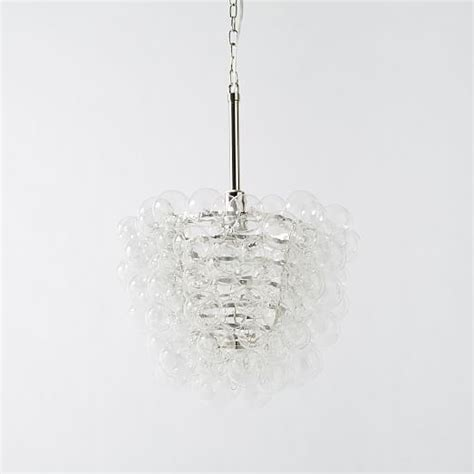 glass droplet chandelier droplet glass chandelier west elm