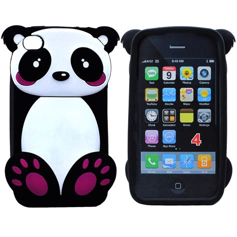 wholesale iphone    panda bear case black
