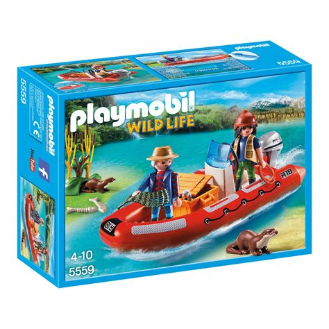 playmobil boat playmobil inflatable boat with explorers 5559 163 16 00