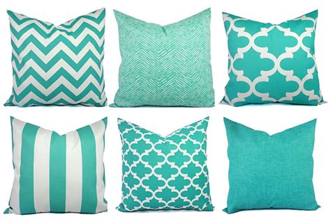 Outdoor Pillow Covers by Indoor Outdoor Pillow Covers Aqua Pillow Teal Pillow Cover