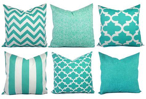 indoor outdoor pillow covers aqua pillow teal pillow cover