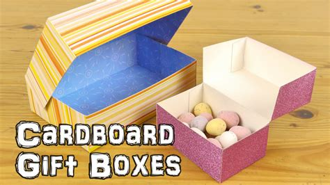 How To Make A Small Box Out Of Construction Paper - diy cardboard gift boxes