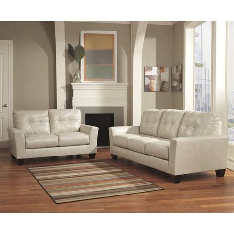 ashley leather sofa sets ashley paulie 2 piece leather sofa set in taupe 27000 38