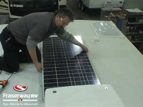 rv solar panels roof installation overview and