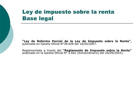 reforma del impuesto sobre la renta de las personas fsicas de 2015 ley de impuesto sobre la renta isrl