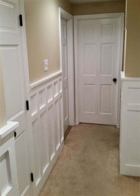 install board batten wainscoting white painted square rectangle pattern wood details moldings wainscoting kitchen board
