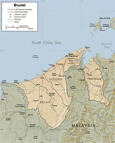 brunei on the world map brunei maps
