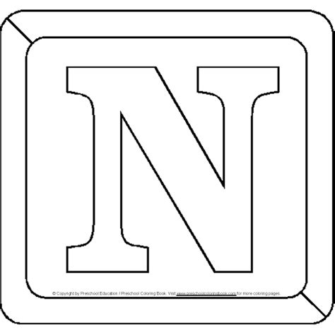 free block letter a coloring pages