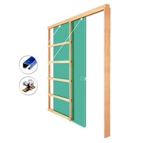Lowes Interior Doors With Frame 1500 24na Pocket Door Frame With Hardware Lowe S Canada