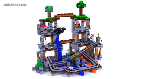 Lego 21118 Minecraft The Mine lego minecraft the mine reviewed set 21118