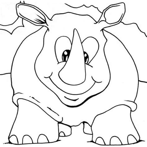 rhino coloring page rhino coloring page for preschool coloring pages