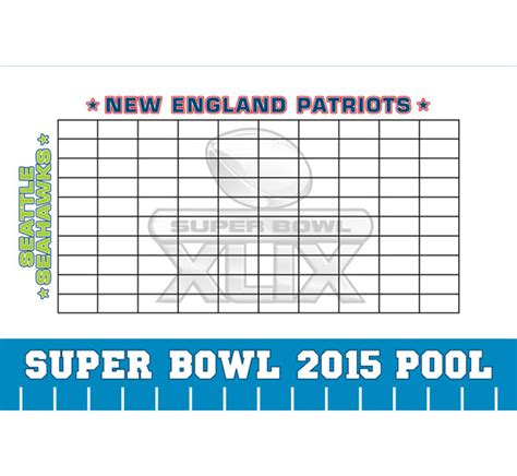 bowl pool templates 2015 bowl xlix theme pool board