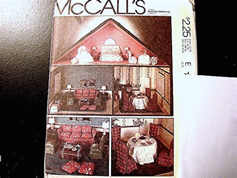 sewing pattern dolls house 1970s mccalls doll pattern dollhouse sewing by