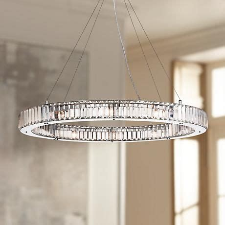 ls plus crystal chandeliers possini euro mulina 35 1 2 quot wide crystal glass pendant