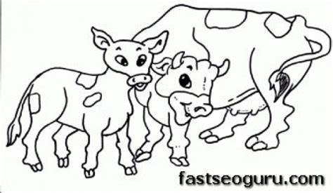 animal family coloring page printable farm animal cow family coloring pages