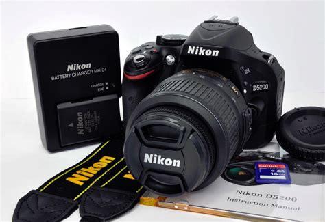 Nikon D5200 Lensa Kit 18 55mm 24 1 Mp nikon d5200 24 1 mp digital dslr kit w af s vr 18