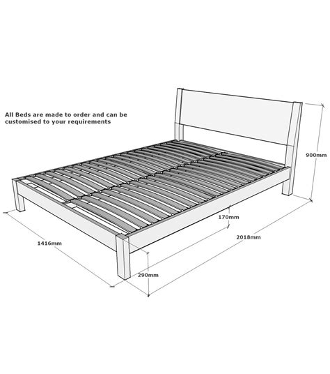 Hamsterly Solid Oak Double Bed Frame 4ft6 Measurements For Size Bed Frame