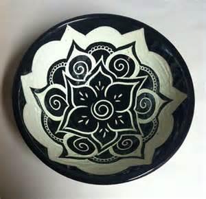bowl designs black white mandala serving bowl serving bowls