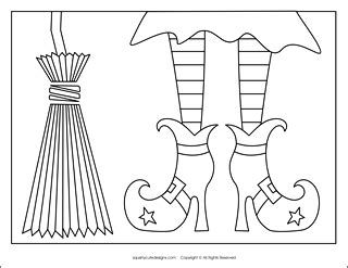 witch shoe coloring page stuffed animal sewing patterns squishy cute designsfree