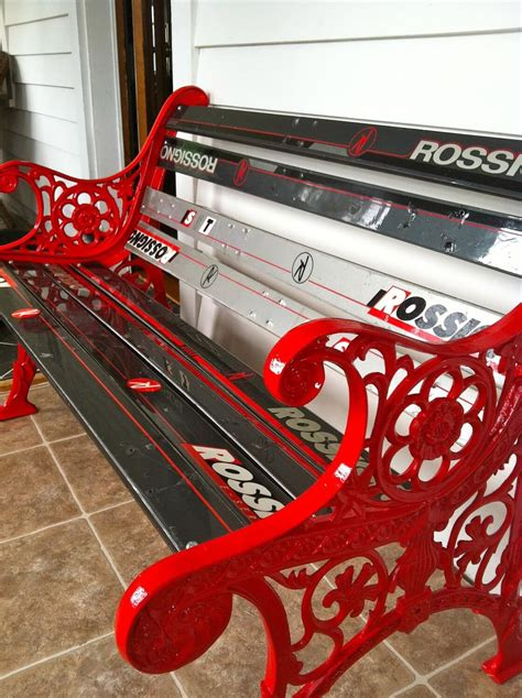 bench made out of skis 8 awesome ways to upcycle your old skis the snow chasers