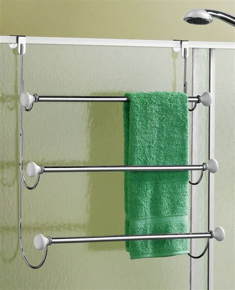 bathroom door towel racks chrome over the door triple tier bathroom towel rack
