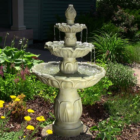fountains backyard tiered water fountains outdoor 3 tier fountains