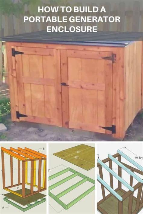 build  portable generator enclosure  pallets