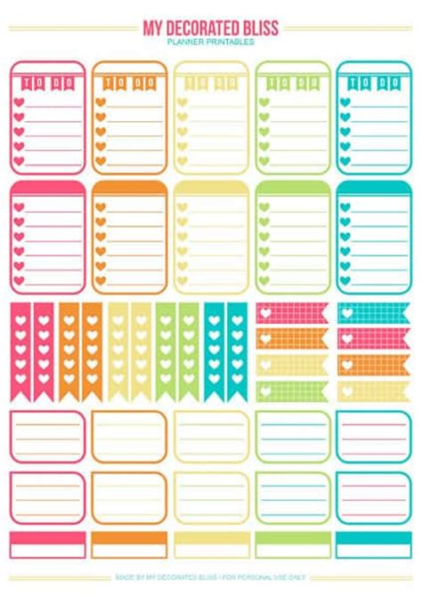 Big Happy Planner Printables