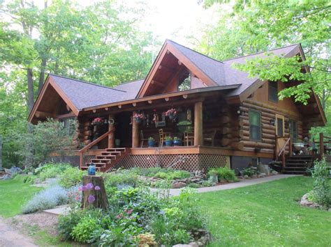 Wisconsin Log Cabin Rentals by Beautiful Authentic Log Cabin Home Complete Vrbo