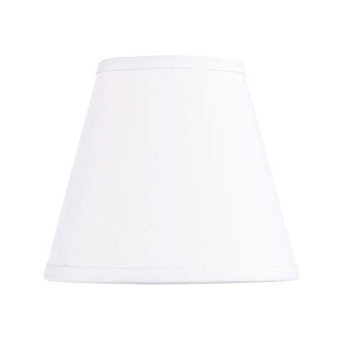off white shades shop livex lighting 4 5 in x 5 in off white fabric empire