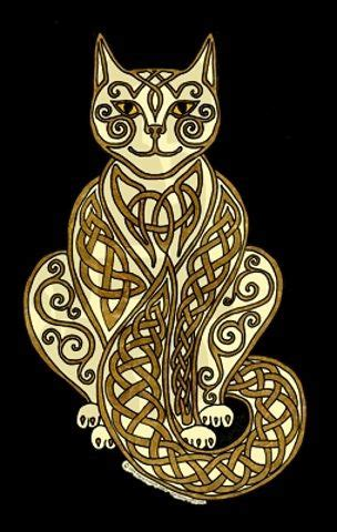 celtic cat tattoo designs 146 best images about drawing ribbons ropes knots