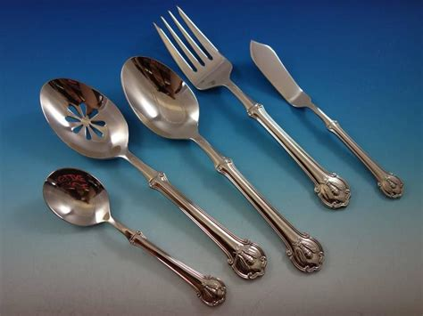 napoleon 6 piece salad fork set modern flatware and wallace napoleon bee service for twelve 18 10 stainless