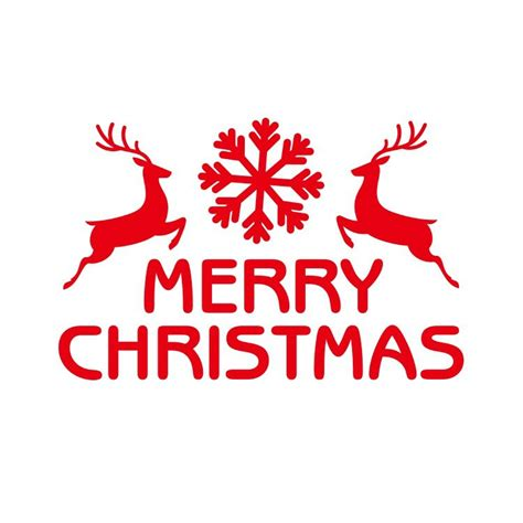merry christmas tree wall sticker reindeer snowflake car