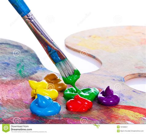 painting with brush paint brush stock image image of creative mixed colors