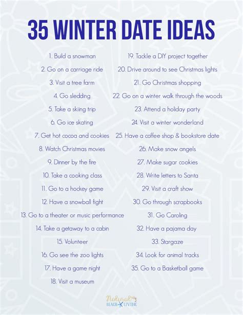 date ideas 35 fun winter date ideas you can do on a budget natural beach living