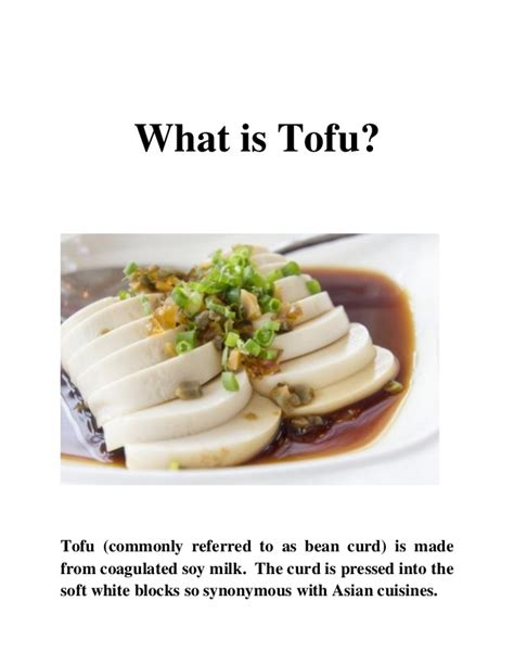 what is a made of what is tofu
