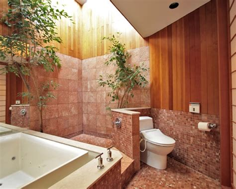 outdoor shower bath tropical design