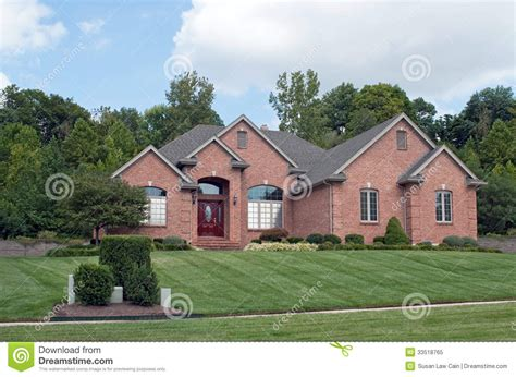 home image midwest suburban brick home royalty free stock photo